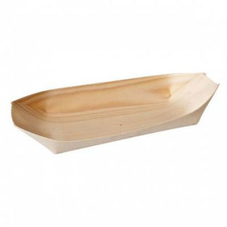 Picture of Bio Wood Disposable Oval Boat Pack Of 50 140x75mm