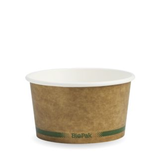 Picture of BioBowl Green Stripe Kraft 12oz