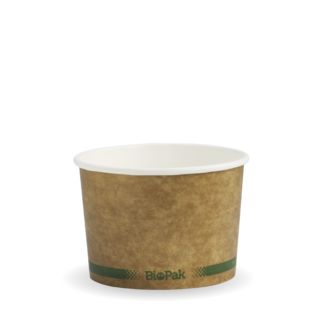 Picture of BioBowl Green Stripe Kraft 8oz
