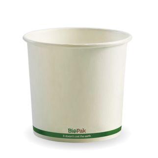 Picture of BioBowl Green Stripe White 24oz