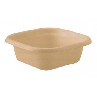 Picture of Biocane Takeaway Container Branded Natural Base - 130 x 130 x 95mm