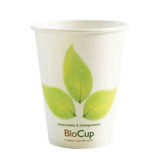 Picture of Biopak Branded White Single Wall Cup 12oz