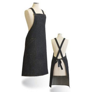 Picture of Denim Apron Black With Crossover Ties
