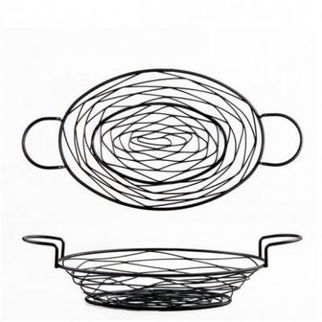 Picture of Black Oval Basket 375 x 275mm