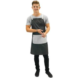 Picture of Cafe Series Bib Apron Grey Champagne 70 x 86cm