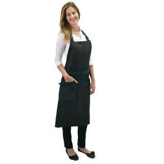 Picture of Cafe Series Venice Bib Apron Dark Grey w Pocket 90 x 93cm