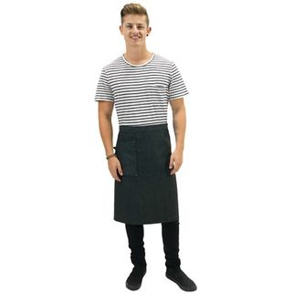 Picture of Cafe Series Venice Waist Apron Dark Grey with Pocket 90 x 62cm