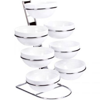Picture of Cascading Chrome Bowl Stand Chrome Stand