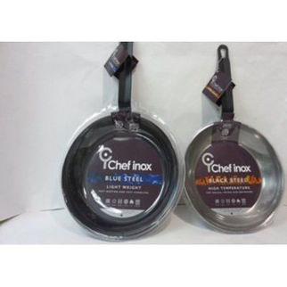 Picture of Chef Inox Black Steel Frypan Round 240 x 45mm
