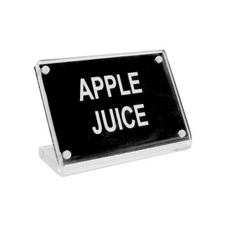 Picture of Chef Inox Buffet Sign Acrylic w SS Magnet Plate 'Apple Juice'