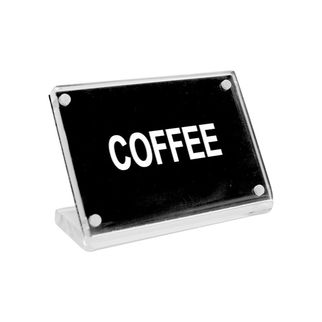 Picture of Chef Inox Buffet Sign Acrylic w SS Magnet Plate 'Coffee'