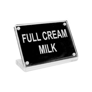 Picture of Chef Inox Buffet Sign Acrylic w SS Magnet Plate 'Full Cream Milk'