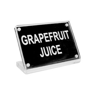 Picture of Chef Inox Buffet Sign Acrylic w SS Magnet Plate 'Grapefruit Juice'