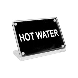 Picture of Chef Inox Buffet Sign Acrylic w SS Magnet Plate 'Hot Water'
