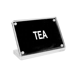 Picture of Chef Inox Buffet Sign Acrylic w SS Magnet Plate 'Tea'