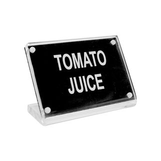 Picture of Chef Inox Buffet Sign Acrylic w SS Magnet Plate 'Tomato Juice'