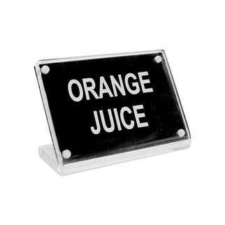 Picture of Chef Inox Buffet Signs Acrylic w SS Magnet Plate 'Orange Juice'