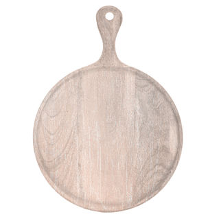 Picture of Chef Inox Mangowood Serving Board Round with handle Coral 300mm