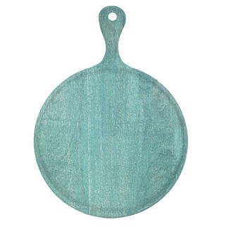 Picture of Chef Inox Mangowood Serving Board Round with handle Green 300mm