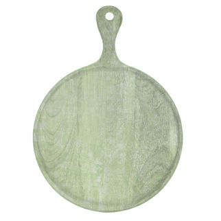 Picture of Chef Inox Mangowood Serving Board Round with Handle Green 300mmA_HR