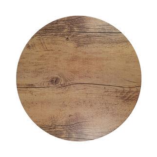 Picture of Chef Inox Melamine Wood Oak Effect Round 310mm