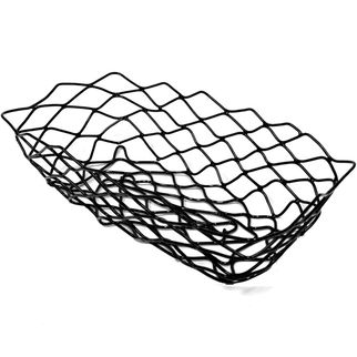 Picture of Chef Inox Serving Basket Rect Black Wire 255x125x60mm