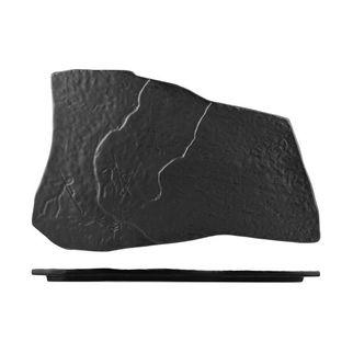 Picture of Cheforward Prevail Natural Shape Platter Matt Black 390 x 250mm