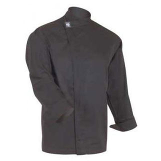 Picture of Chefs Tunic Top Black With Long Sleeves Large