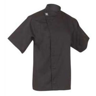Picture of Chefs Tunic Top Black With Short Sleeves Small