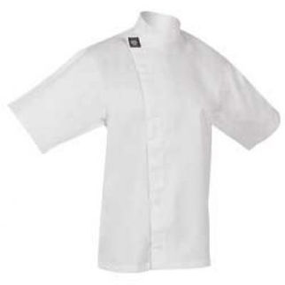 Picture of Chefs Tunic Top White With Short Sleeves Small