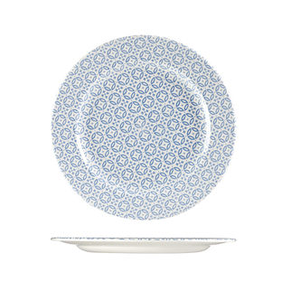 Picture of Churchill Moresque Round Wide Rimmed Plate Blue 276mm