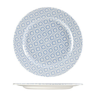 Picture of Churchill Moresque Round Wide Rimmed Plate Blue 305mm