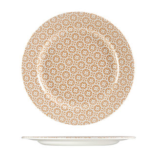 Picture of Churchill Moresque Round Wide Rimmed Plate Orange 305mm