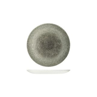 Picture of Churchill Raku Round Coupe Plate Quartz Black 165mm
