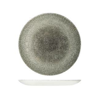 Picture of Churchill Raku Round Coupe Plate Quartz Black 260mm