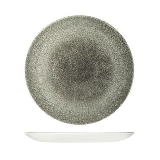 Picture of Churchill Raku Round Coupe Plate Quartz Black 288mm