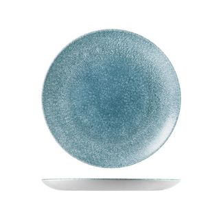 Picture of Churchill Raku Round Coupe Plate Topaz Blue 260mm