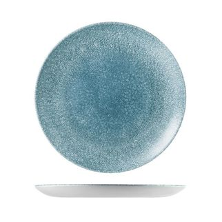 Picture of Churchill Raku Round Coupe Plate Topaz Blue 288mm