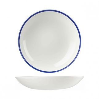 Picture of Churchill Retro Blue Round Coupe Plate 248mm