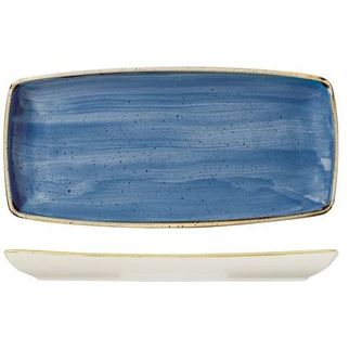 Picture of Churchill Stonecast Oblong Plate Cornflower Blue 295*150mm