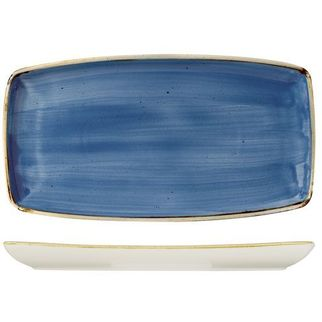 Picture of Churchill Stonecast Oblong Plate Cornflower Blue 350*185mm