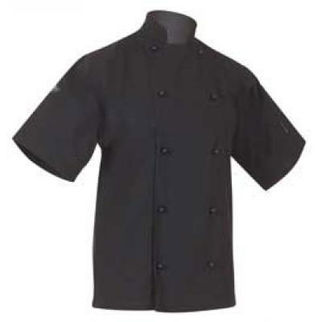 Picture of Classic Chefs Jacket Black Short Sleeves 2X Large