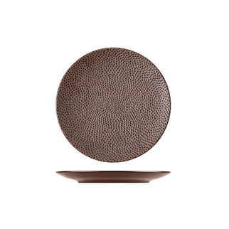 Picture of Cobble Round Coupe Plate Brown Matte 165mm