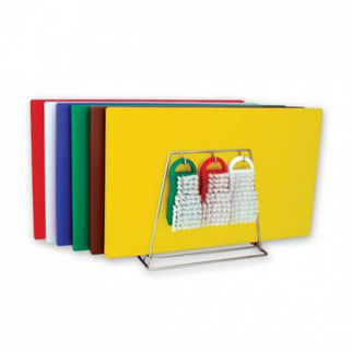 Picture of Colour Coded Cutting Board System 19 Piece 13mm 510mm