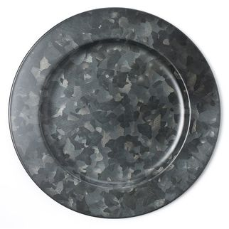 Picture of Coney Island Galvanised Black Round Plate Wide Rim 280mm