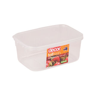 Picture of Decor Tellfresh Oblong Storage Container 1L