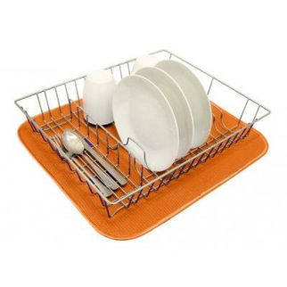 Picture of Dish Drying Mat 450 X 400cm Tangerine