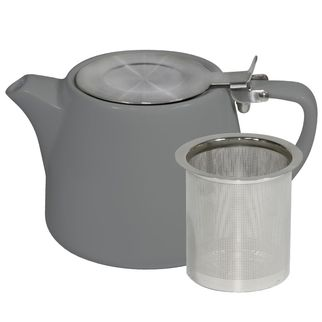 Picture of Brew French Grey Stackable Teapot 600ml with SS Infuser and Lid