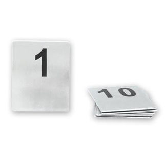 Picture of Flat Table Number Set Stainless Steel 1-10