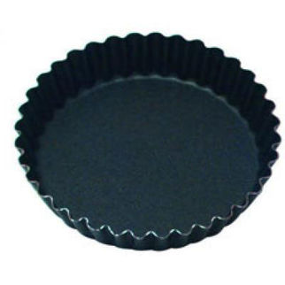 Picture of Fluted Tart Mould With 36 Ribs Solid Base 105mm